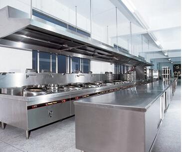 厨房设备平台效果图-餐厅厨房设备摆放设计要点