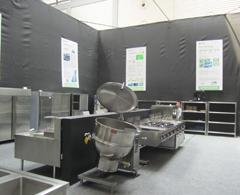 大明合作国外品牌厨设备实机展示