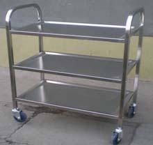 不锈钢三层餐车